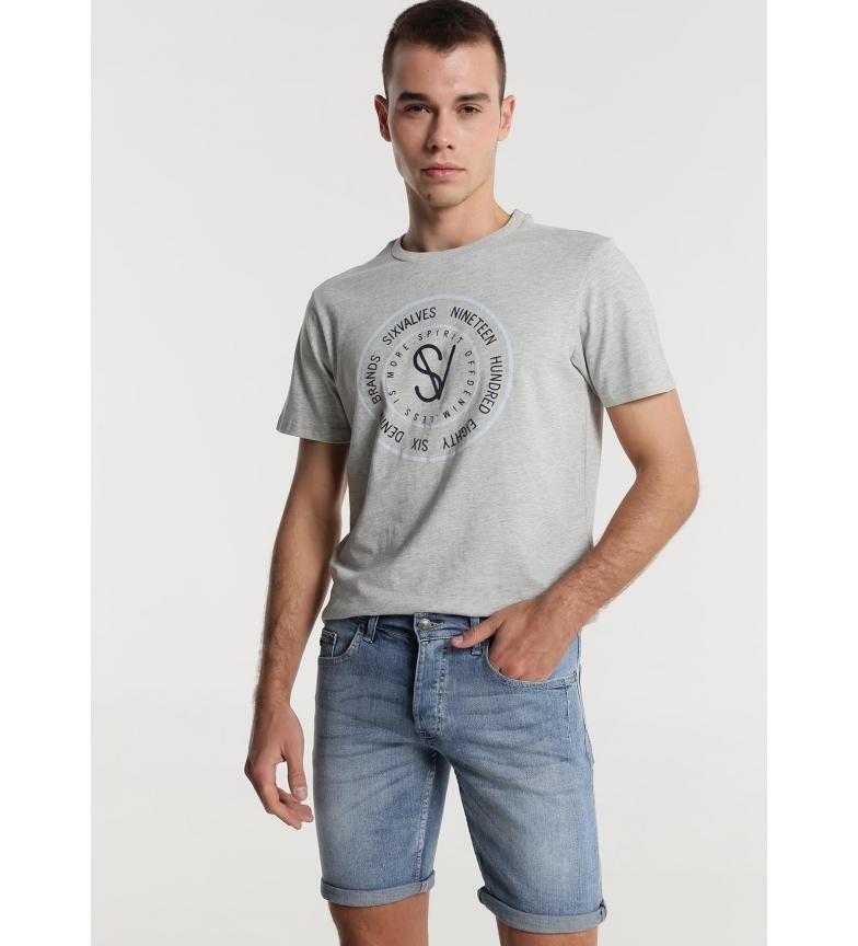 Comprar Six Valves Denim Bermuda Shorts Regular Fit blue