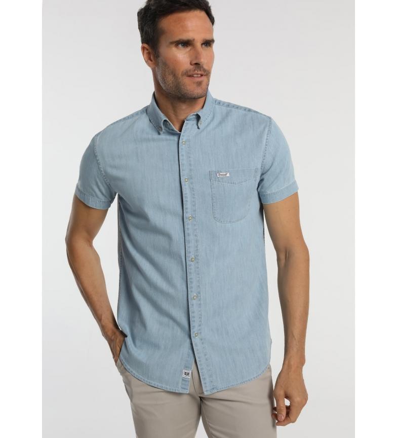 Comprar Bendorff Denim Shirt Short Sleeve Pockets blue