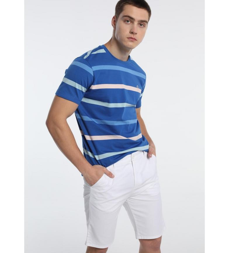 Comprar Six Valves Blue woven striped T-shirt