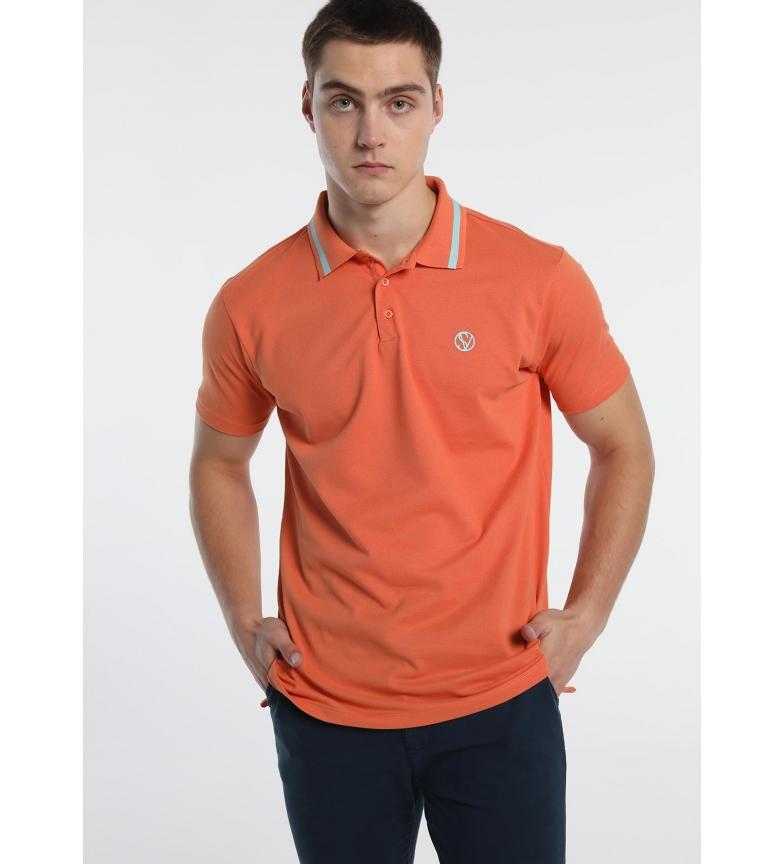 Comprar Six Valves Polo Pique with Logo orange