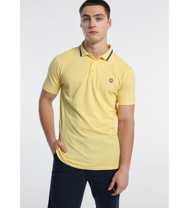 Comprar Six Valves Polo Pique con Logo amarillo