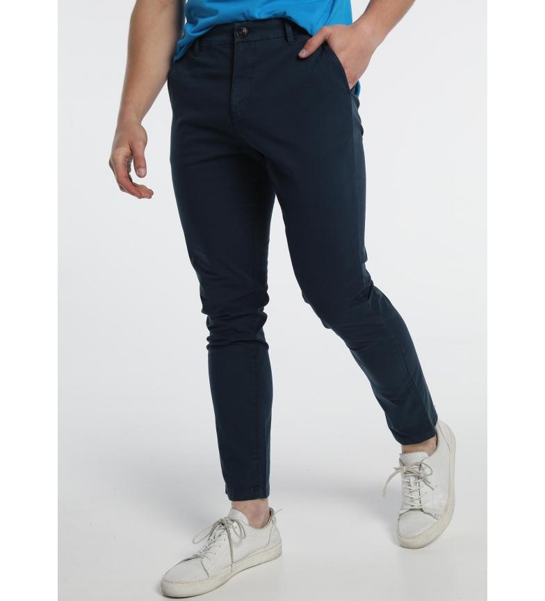 Six Valves Pantaloni chino blu