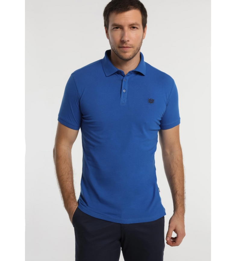Bendorff Polo Básico Pique Logo Bordado azul