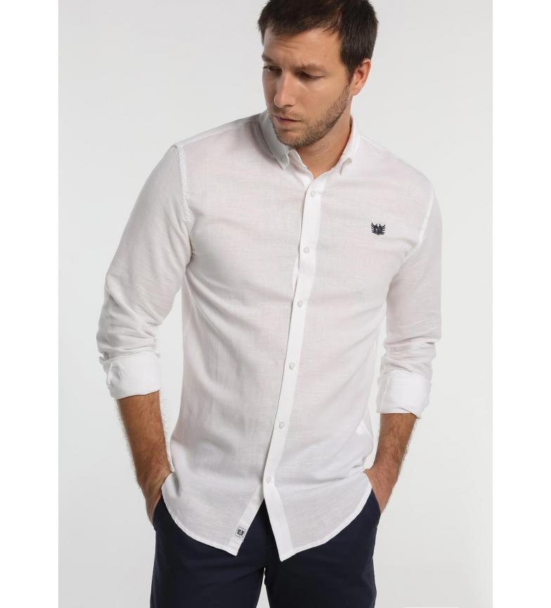 Comprar Bendorff Camicia bianca in lino a maniche lunghe