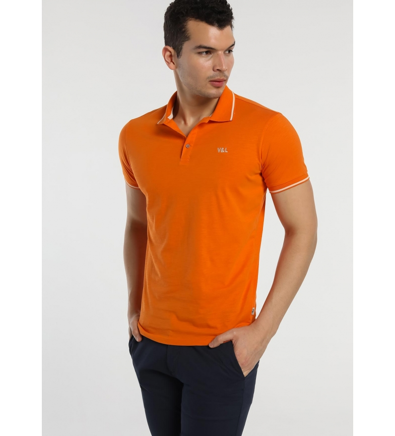 Comprar Victorio & Lucchino, V&L Polo in piqué arancione