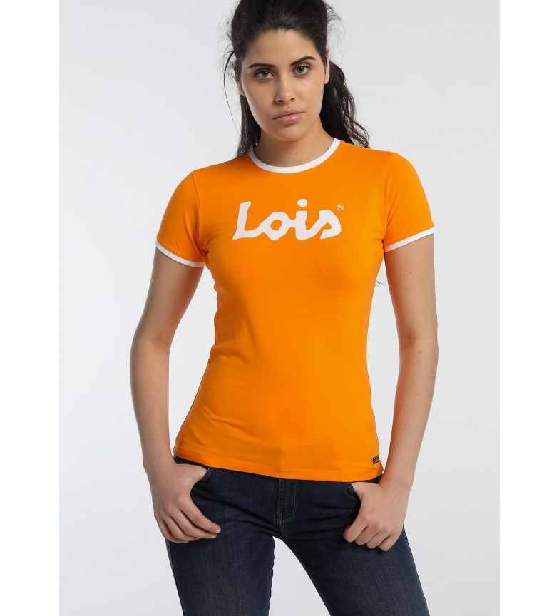 Lois T-shirt arancione basic indispensabile