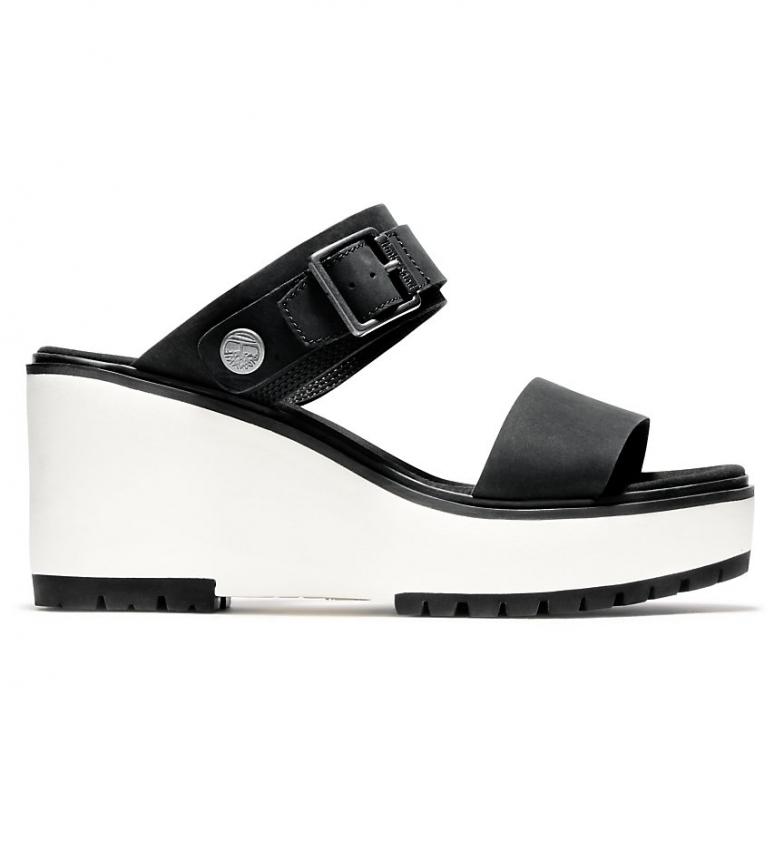 Comprar Timberland Koralyn 2 leather sandals black - wedge height: 8cm