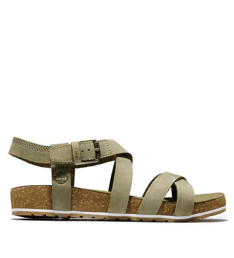 Comprar Timberland Malibu Onde Malibu Sandali in pelle di kaki alla caviglia