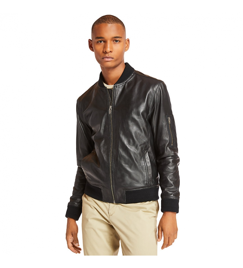 Comprar Timberland Leather Bomber Jacket Black