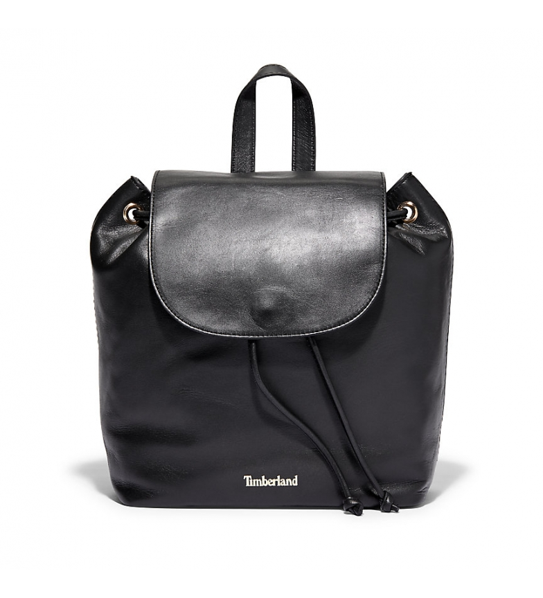 Comprar Timberland Black Rosecliff leather backpack -24x28x14,5cm