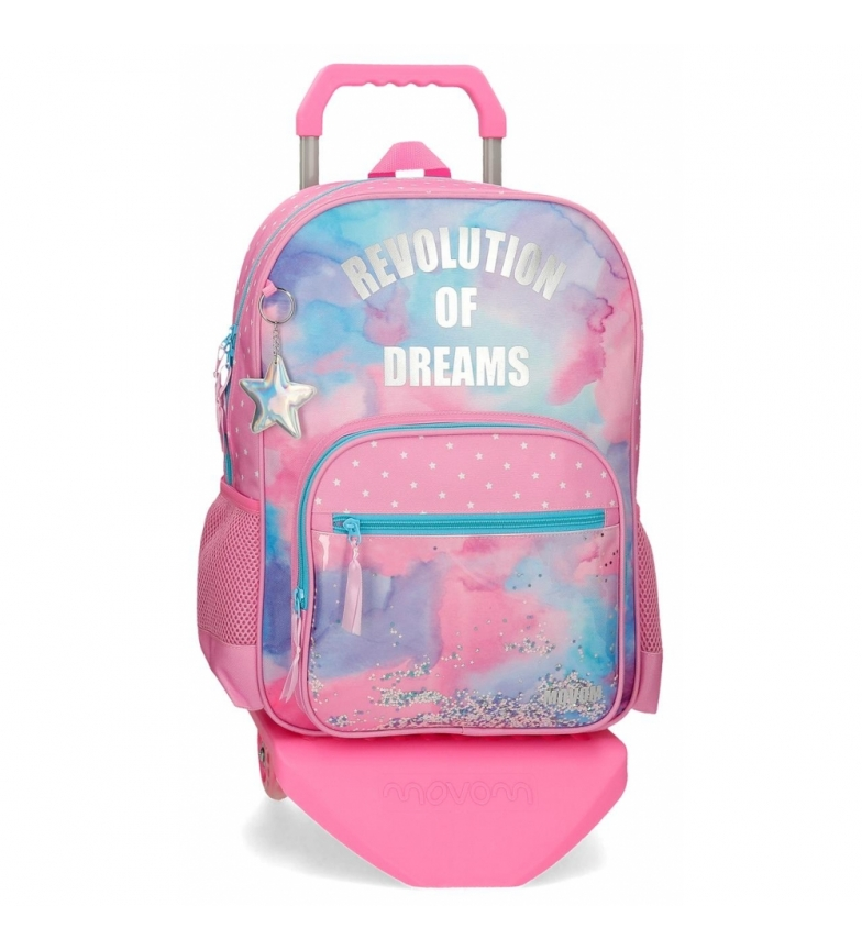 Comprar Movom 42cm backpack with trolley Revolution Dreams multicolor -31x42x13cm