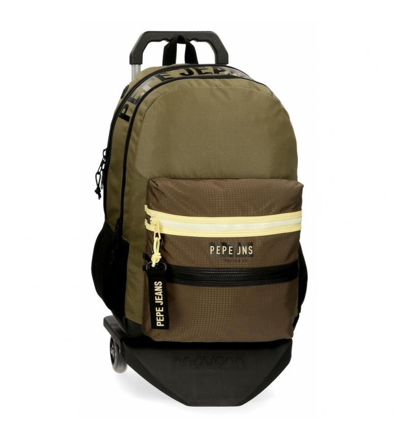 Comprar Pepe Jeans Sac à dos à deux compartiments Pepe Jeans Caden avec chariot -31x46x16cm