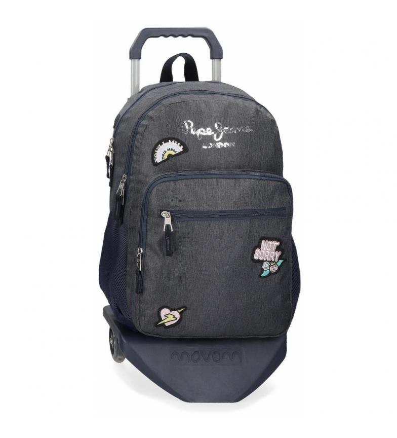Comprar Pepe Jeans Sac à dos d'école Pepe Jeans Emi à double compartiment avec chariot -31x46x16cm