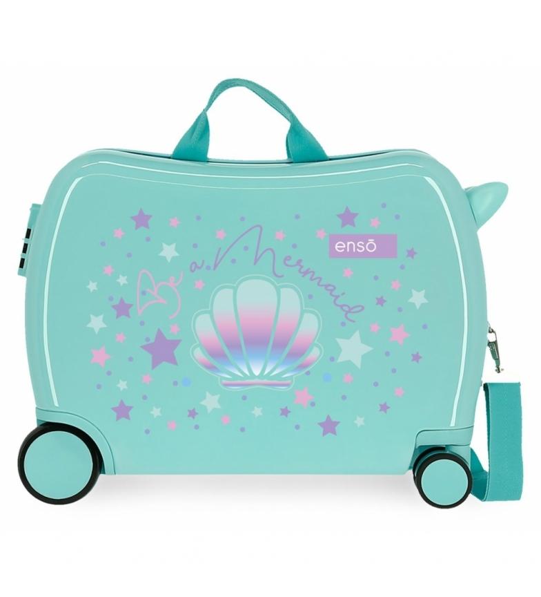 Comprar Enso Valise pour enfants Be a Mermaid -38x50x20cm- turquoise