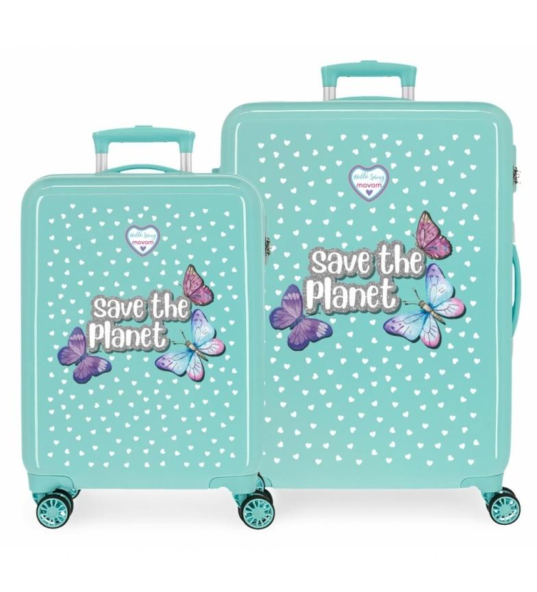 Comprar Movom Movom Save the Planet hard case set verde -38x55x20cm/48x68x26cm