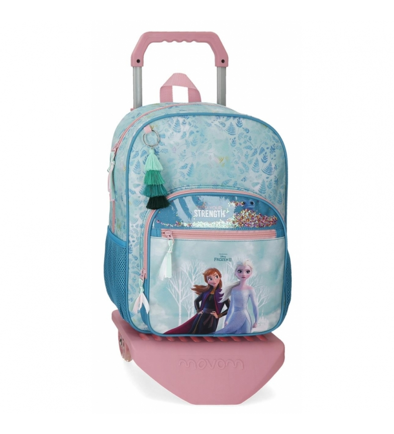 Comprar Frozen Frozen Find Your Strenght School Backpack with Trolley -30x38x12cm