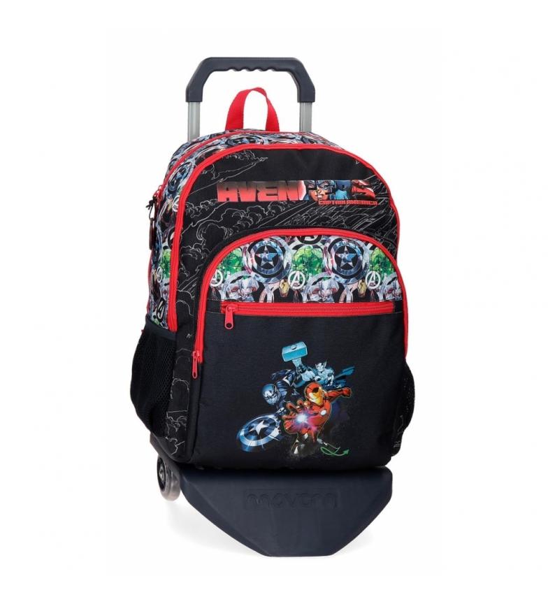 Joumma Bags Vingadores Armour Up Backpack Compartimento duplo com carrinho -33x44x13,5cm