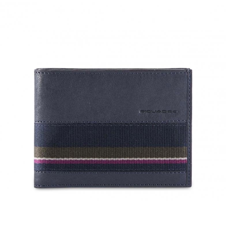 Piquadro Portefeuille en cuir PU257B3SR bleu