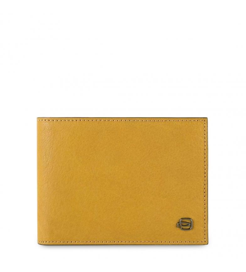 Comprar Piquadro Carteira de couro PU257B3R amarela -13x10x2cm