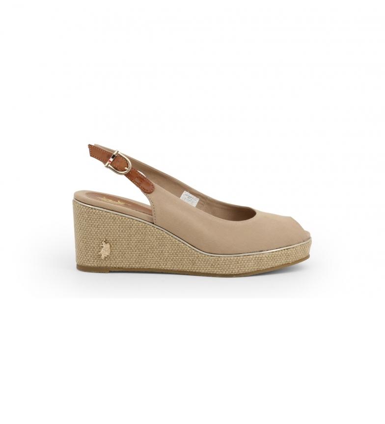 Comprar U.S. Polo Assn. Sandals AGATA4088S0_CY1 brown -Height wedge: 7.5cm