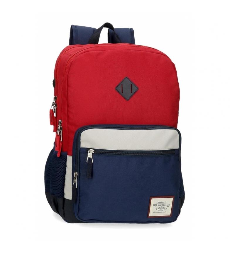 Comprar Pepe Jeans Mochila Pepe Jeans Dany Dos Compartimentos Adaptable Roja -31x46x15cm-