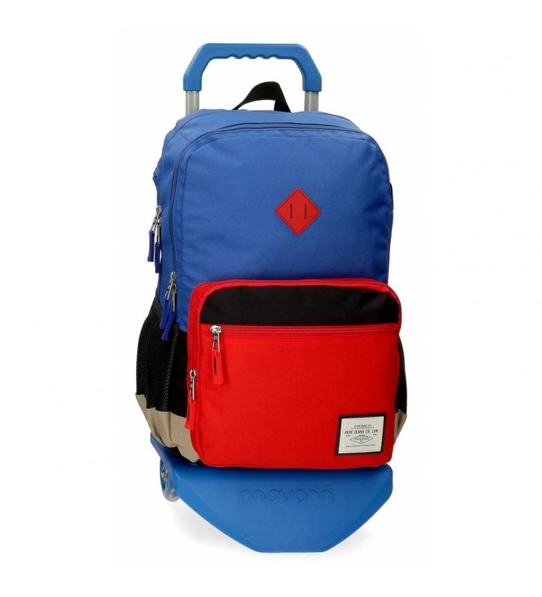 Comprar Pepe Jeans Sac à dos à deux compartiments Pepe Jeans Dany avec chariot bleu -31x46x15cm