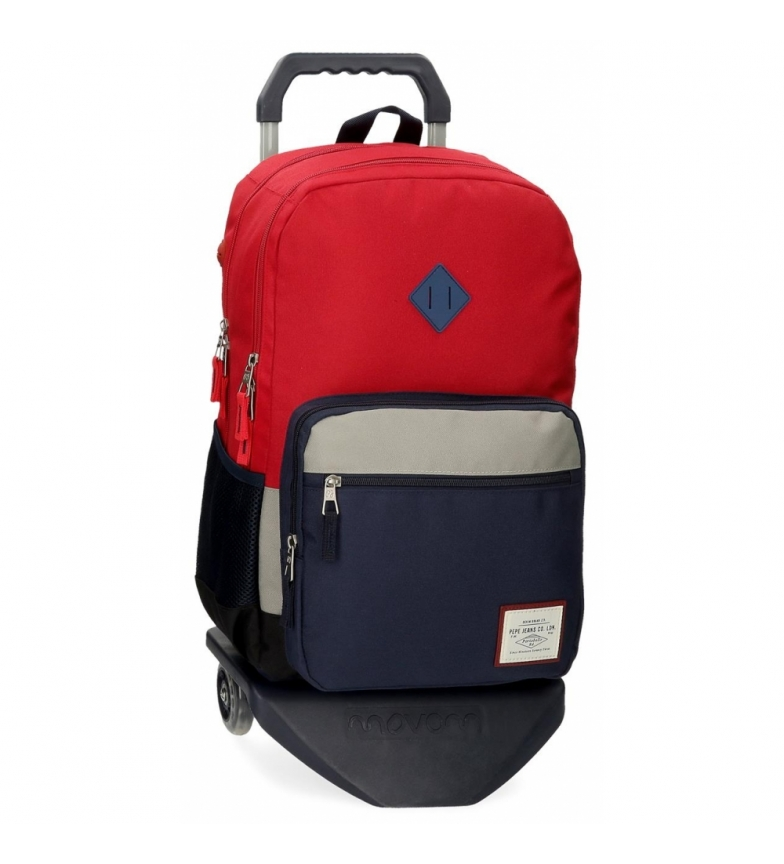 Comprar Pepe Jeans Pepe Jeans Dany Two-Compartment Backpack with Red Trolley -31x46x15cm
