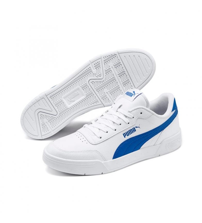 Comprar Puma Scarpe Caracal in pelle bianca, blu
