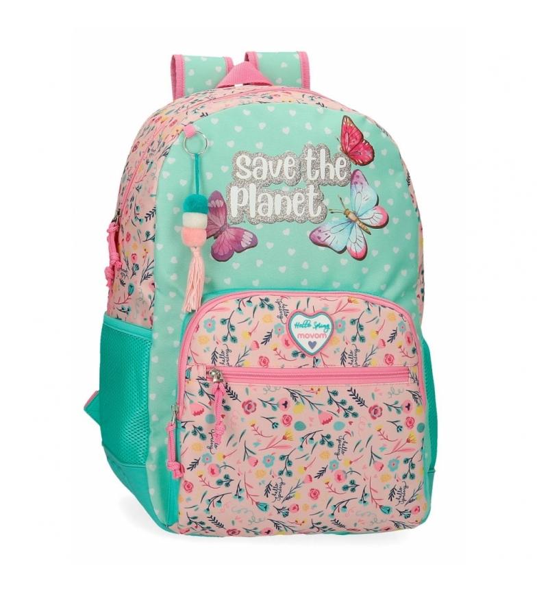 Comprar Movom Multicoloured Movom Save the Planet school bag -33x45x17cm