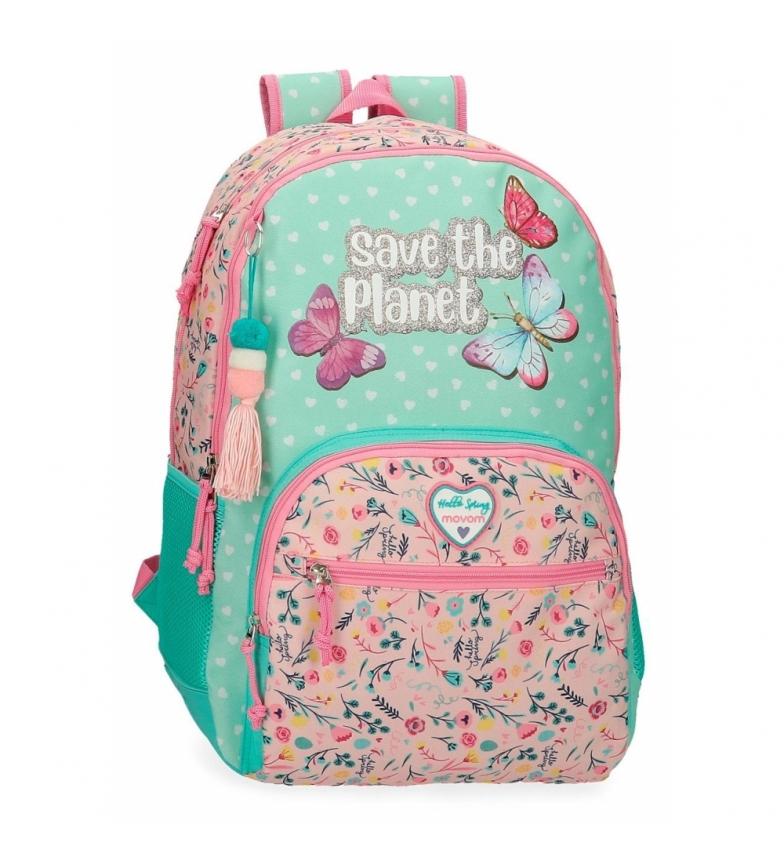 Comprar Movom Mochila Escolar Movom Save the Planet Dos Compartimentos Adaptable multicolor -33x45x17cm-
