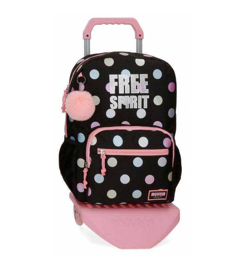 Comprar Movom Movom Free Dots saco escolar com carrinho -31x42x13cm