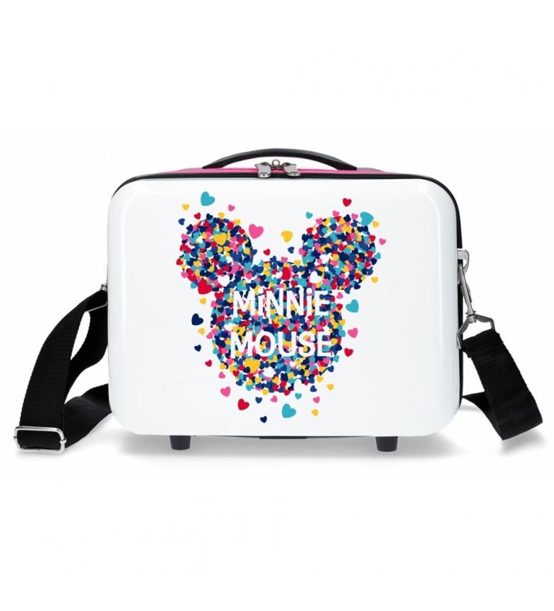 Comprar Minnie Neceser ABS Minnie Magic corazones adaptable a trolley fucsia -29x21x15cm-