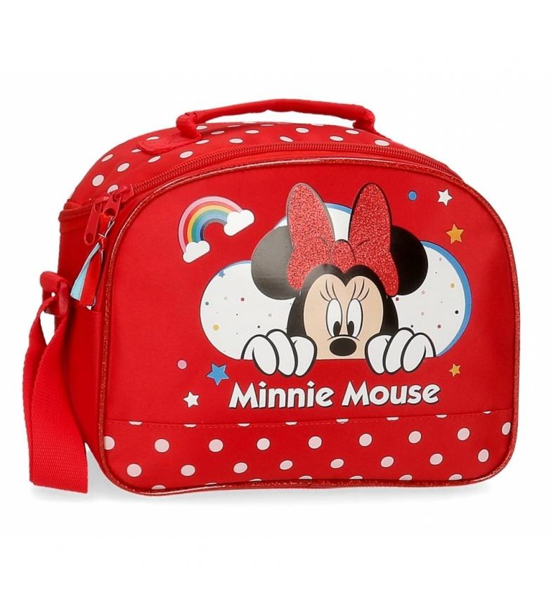 Comprar Minnie Estojo de carrinho Minnie Rainbow com alça de ombro -25x19x10cm