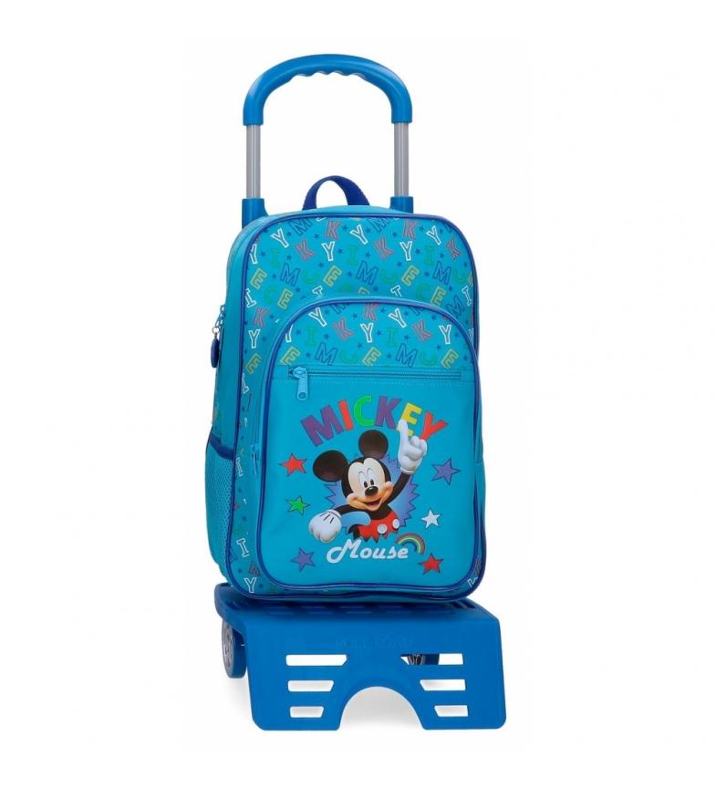 Comprar Mickey Sac à dos d'école Mickey Stars avec chariot -30x40x13cm