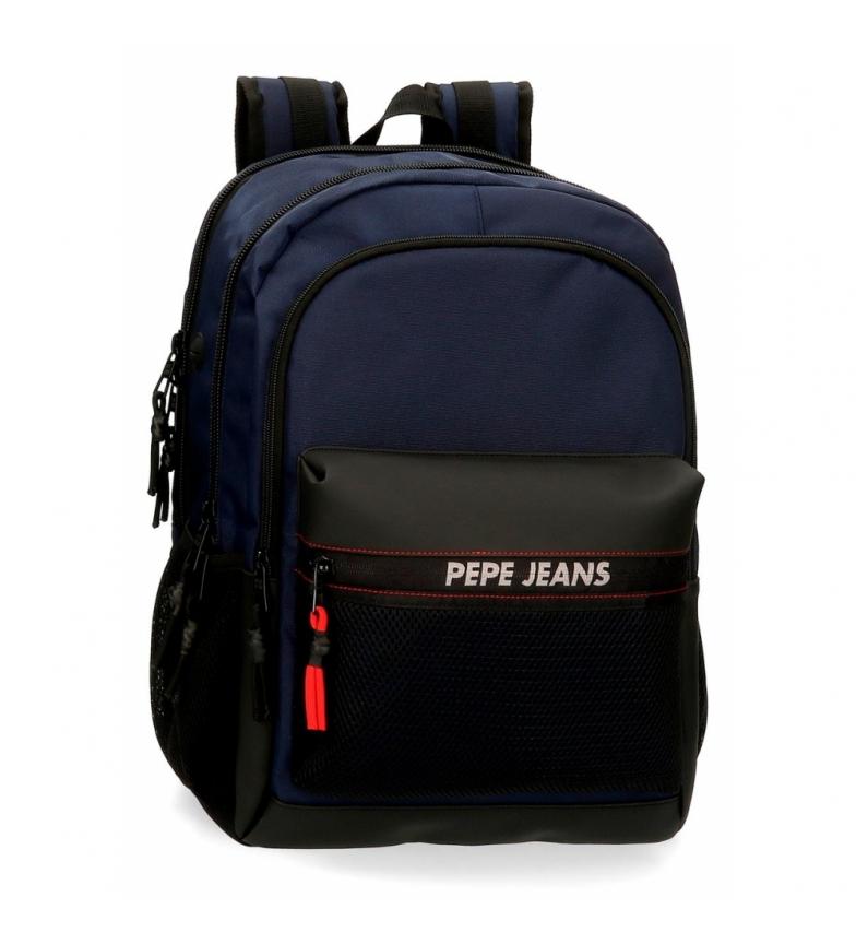 Pepe Jeans Mochila Pepe Jeans Split Double Zipper Backpack -31x44x15cm