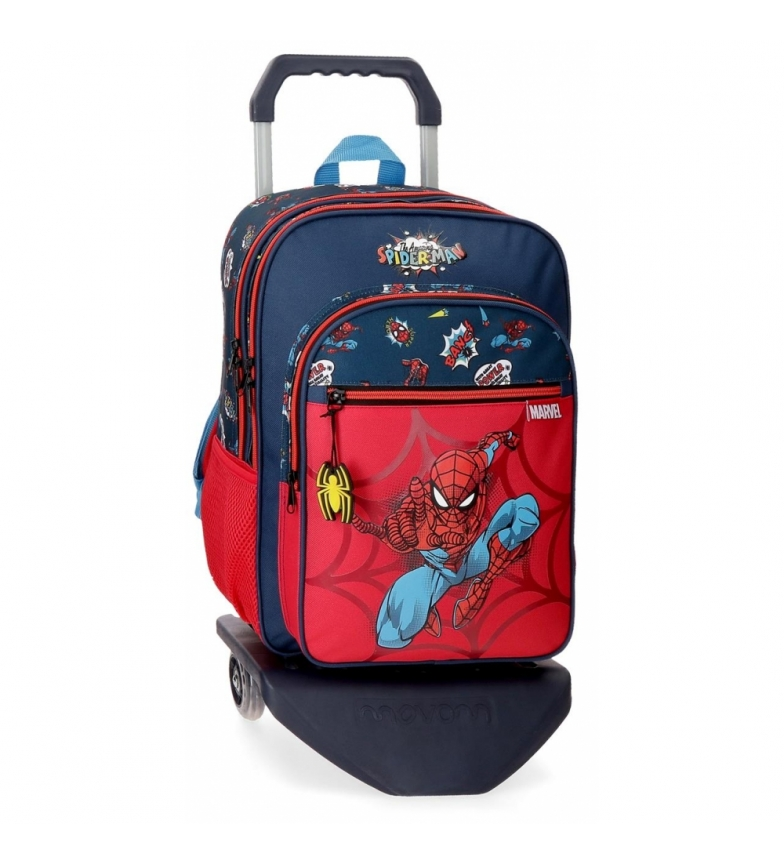 Comprar Spiderman Spiderman Pop Zaino a due scomparti con carrello -30x40x13cm