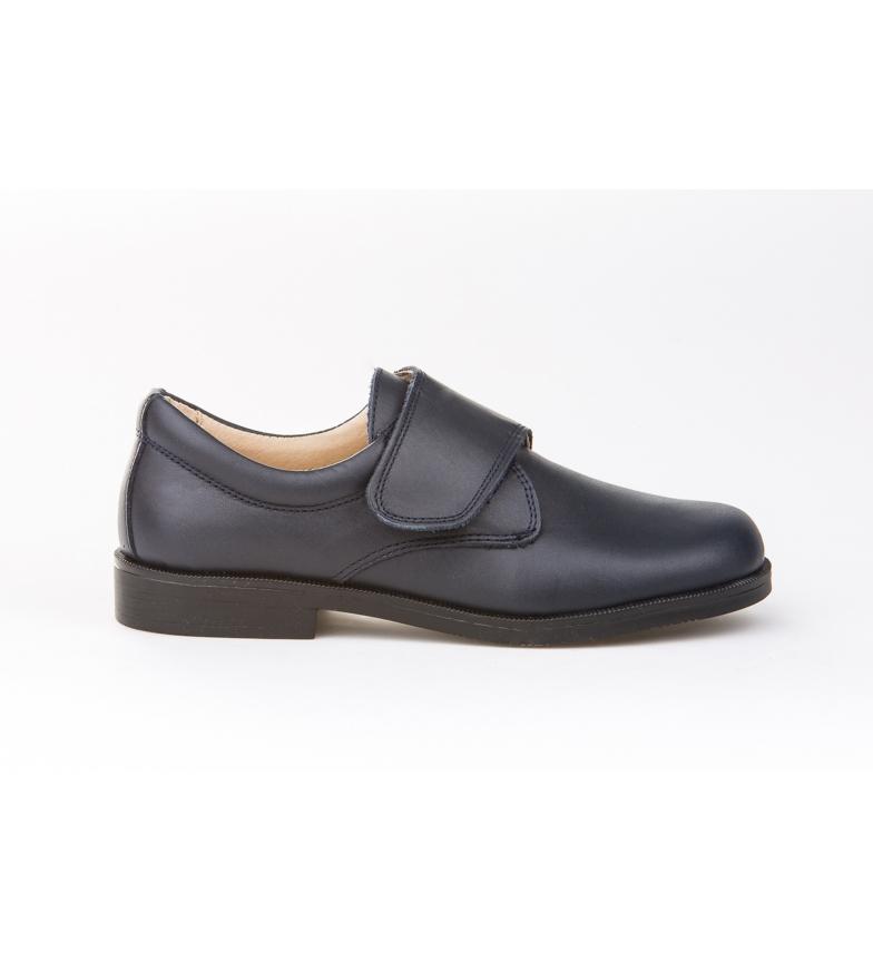 Comprar Angelitos Zapatos/ Mocasín de Piel Blucher Velcro marino
