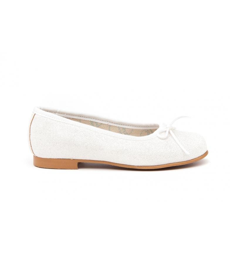 Angelitos Manoletina/Ballerina Mini Glitter white