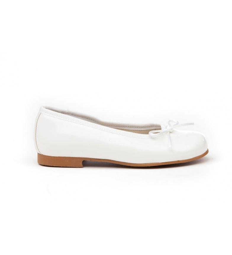 Comprar Angelitos Manoletinas/Ballerinas couro branco patenteado
