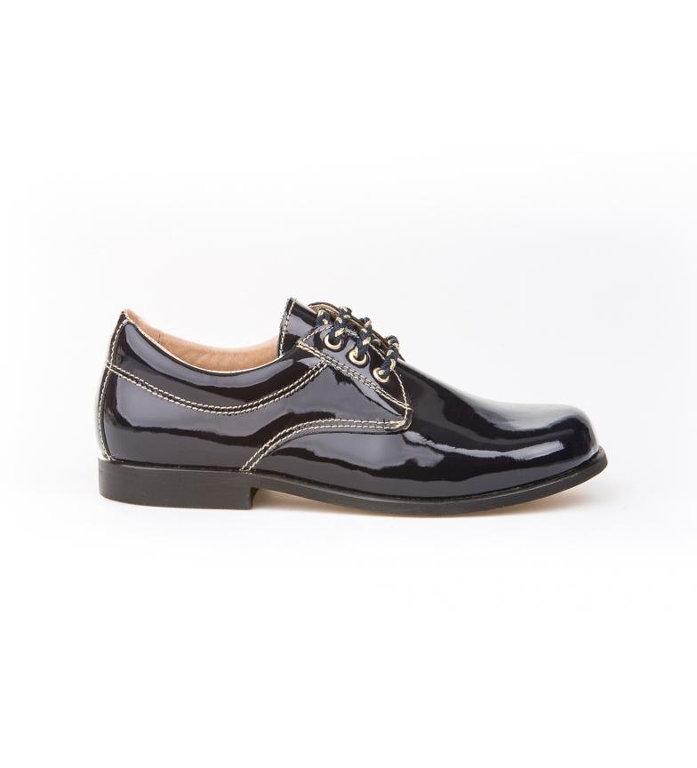 Comprar Angelitos Zapatos de Piel Blucher  Charol marino