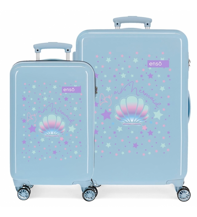 Comprar Enso Enso Be a Mermaid Blue Hard Luggage Set -34x55x20cm/46x65x25cm