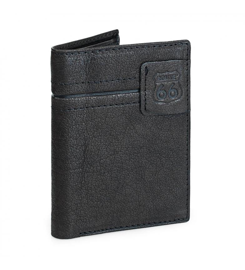 Comprar ROUTE 66 Portefeuille en cuir R40218 noir -11x8,5 cm