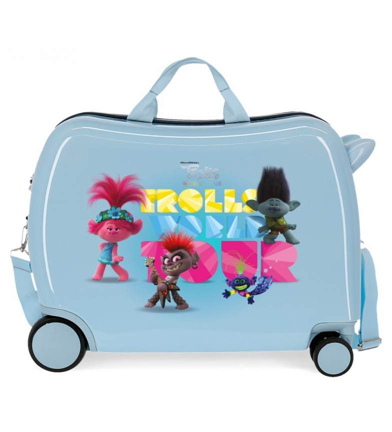 Comprar Disney & Friends Maleta Infantil Trolls World Tour con 2 ruedas multidireccionales 38x50x20cm-
