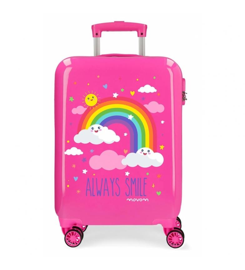 Comprar Movom Valise de cabine Movom Rainbow Always Smile rigide fuchsia -38x55x20cm