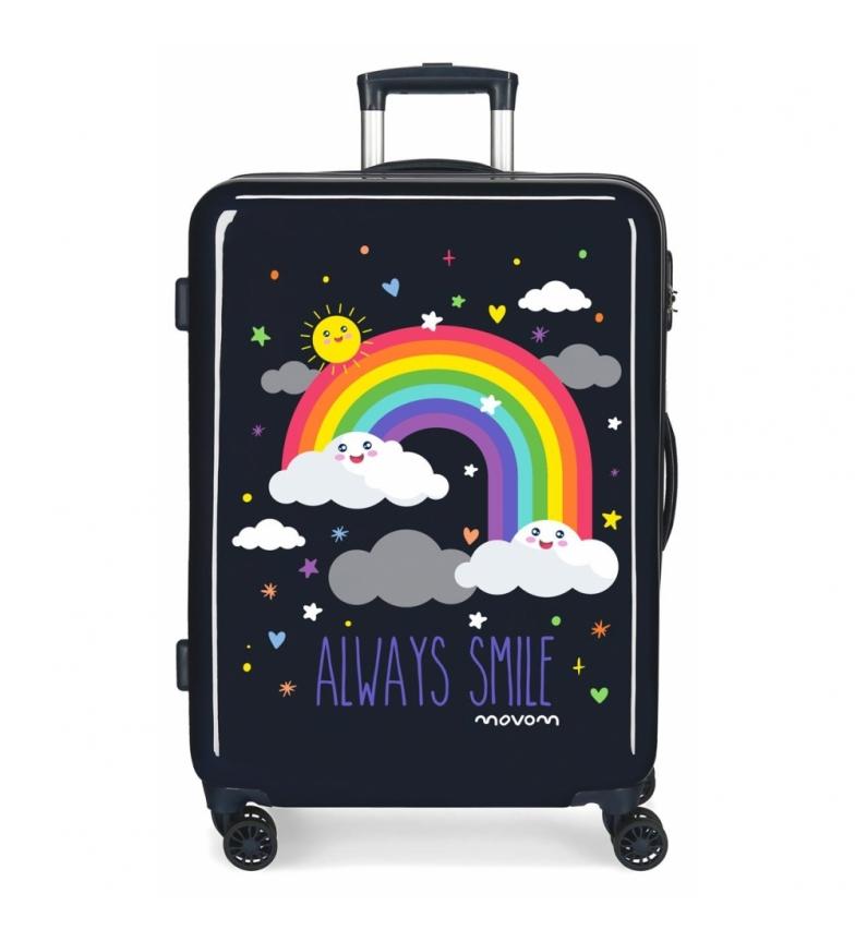 Comprar Movom Movom Medium Rigid Case Always Smile Rainbow Blue -44x68x26cm