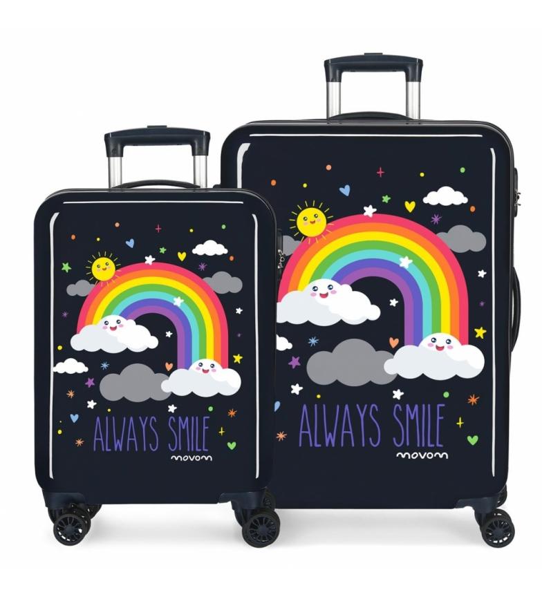 Comprar Movom Movom Rainbow Always Smile Set de bagages bleu -37x55x20cm/44x68x26cm