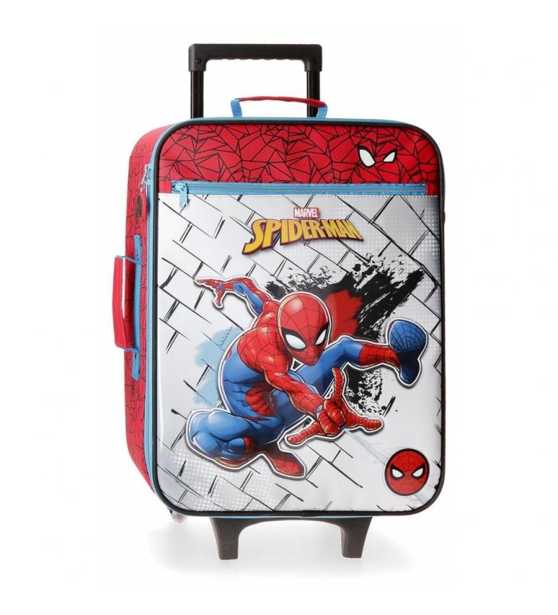 Joumma Bags Valigia cabina Spiderman rossa -35x50x18cm-
