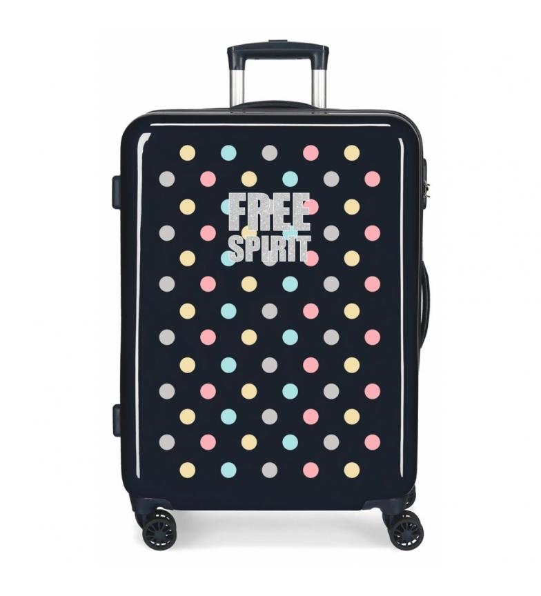 Comprar Movom Valise de taille moyenne Movom Free Dots Rigide bleu marine -48x68x26cm
