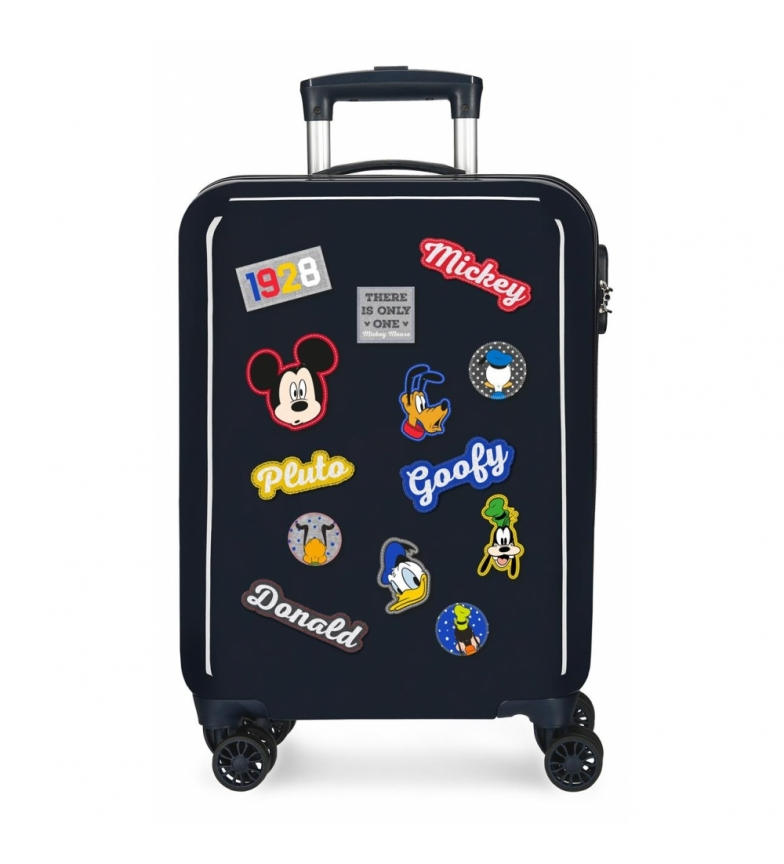 Comprar Mickey Dimensioni cabina valigia Mickey caratteri rigidi blu navy -38x55x20cm