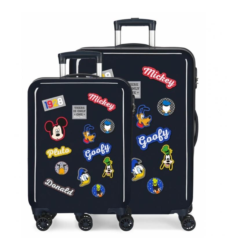 Comprar Mickey Ensemble de personnages rigides Mickey Luggage en bleu marine -38x55x20cm/48x68x26cm